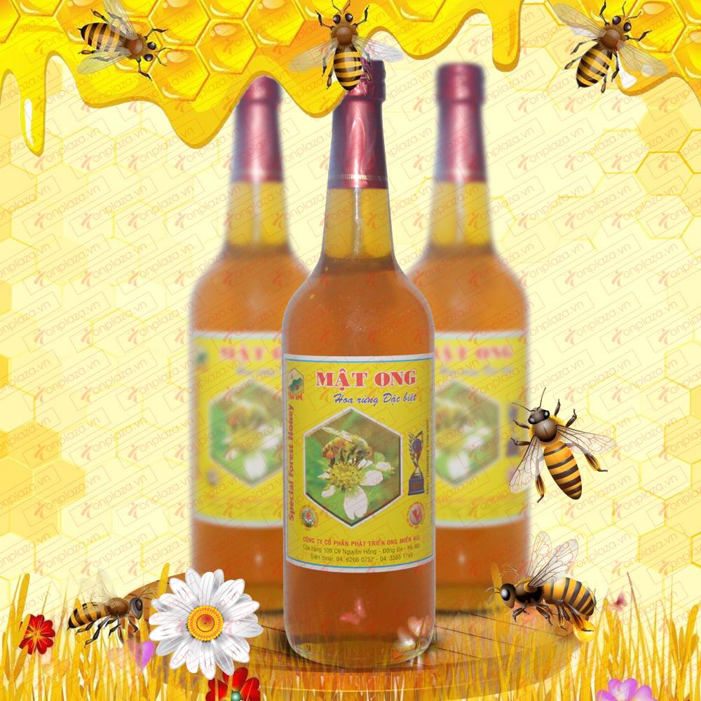 Mật ong hoa rừng đặc biệt 1000g (Chai thủy tinh) MO002