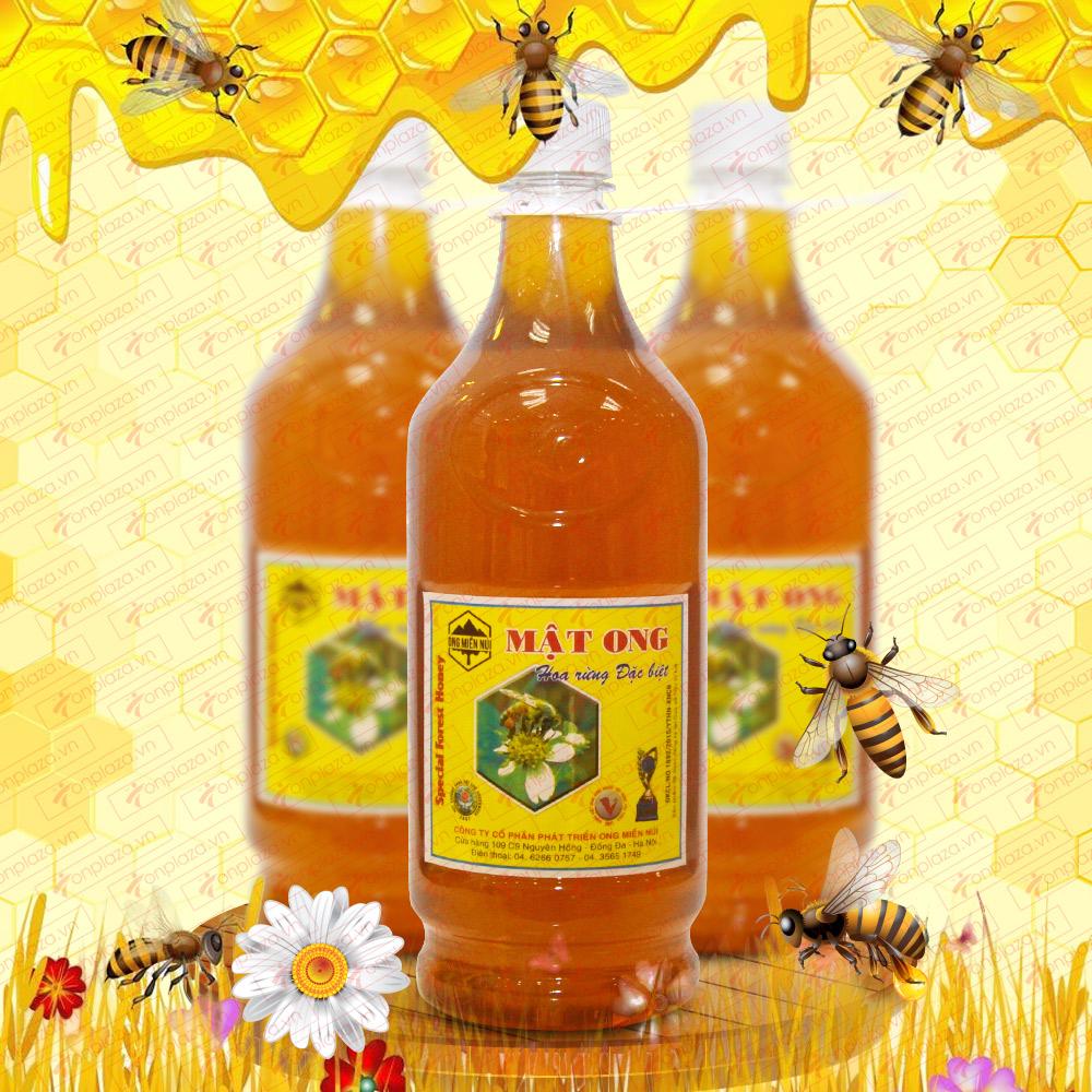 Mật ong hoa rừng đặc biệt 1400g (Chai nhựa) MO001