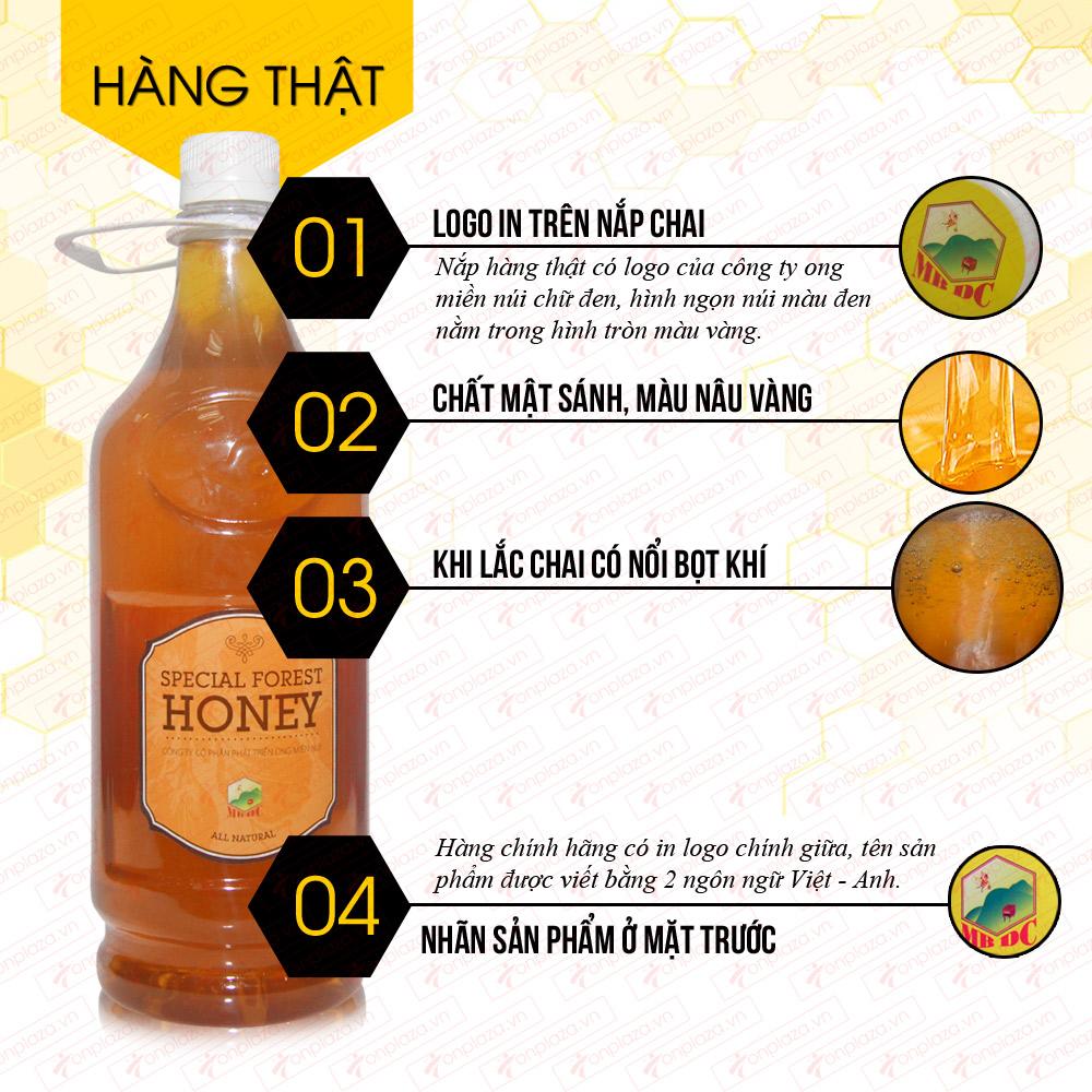 Mật ong hoa rừng đặc biệt  xuất khẩu 1400g (Chai nhựa) MO003 1