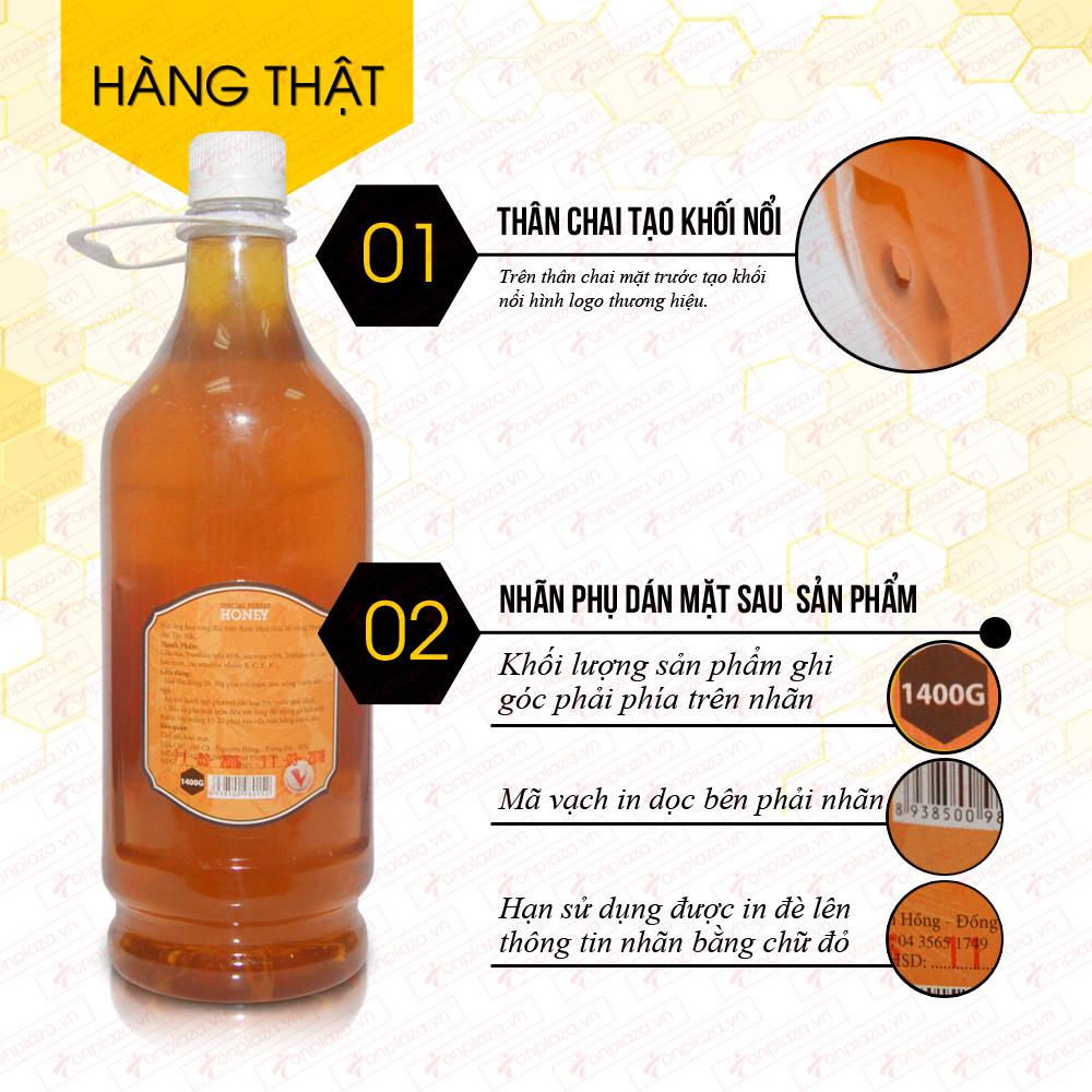 Mật ong hoa rừng đặc biệt  xuất khẩu 1400g (Chai nhựa) MO003 2