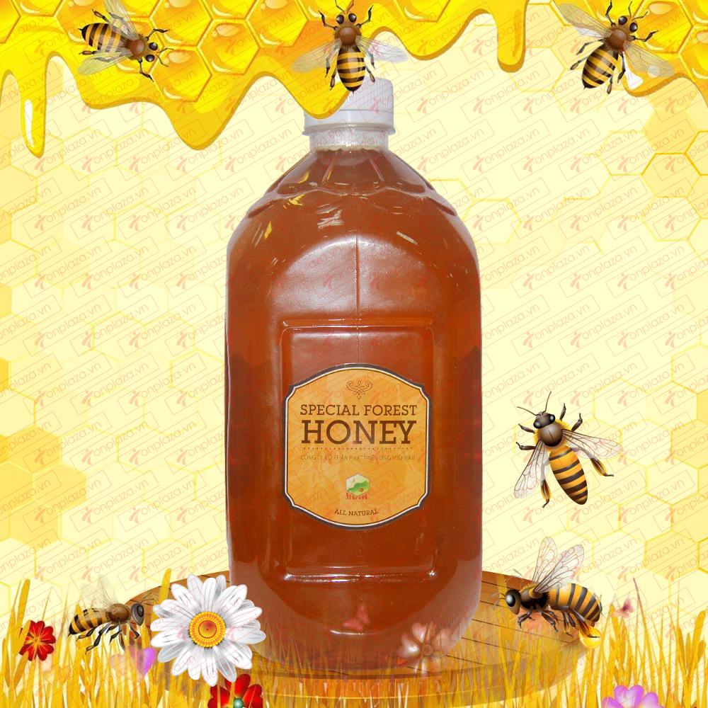 Mật ong hoa rừng đặc biệt xuất khẩu 2800g (Chai nhựa) M016