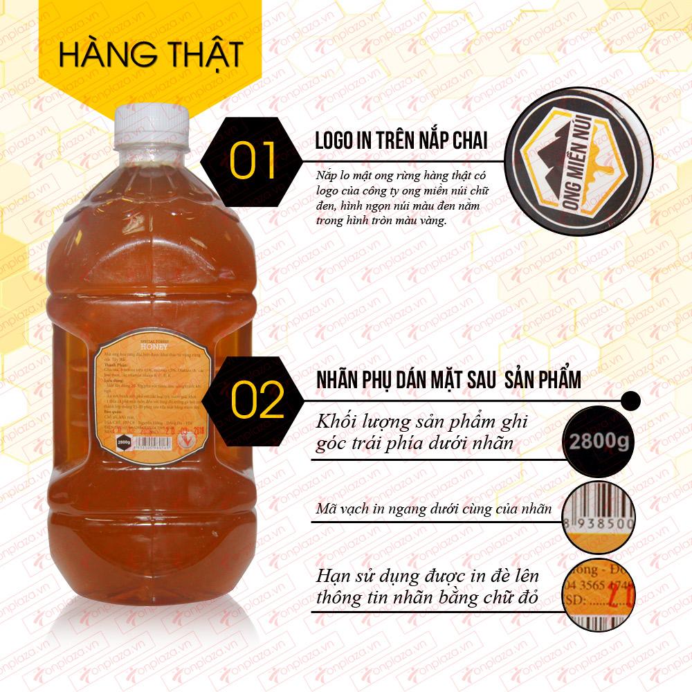 Mật ong hoa rừng đặc biệt xuất khẩu 2800g (Chai nhựa) M016 2