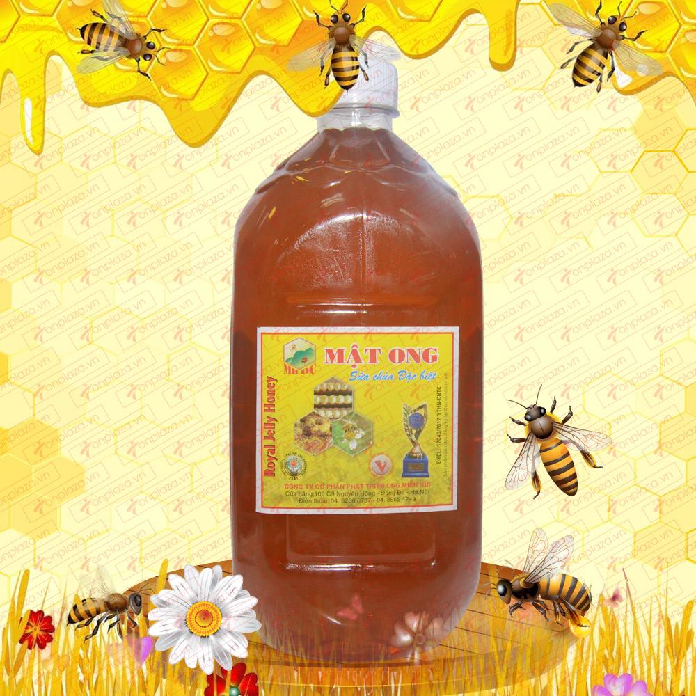 Mật ong hoa rừng sữa chúa đặc biệt 1600g (Chai nhựa) M014