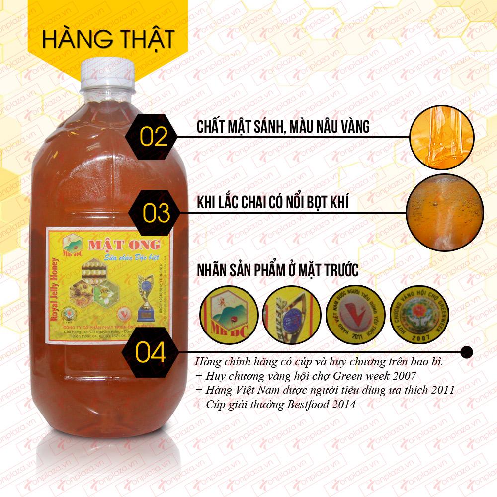 Mật ong hoa rừng sữa chúa đặc biệt 1600g (Chai nhựa) M014 1