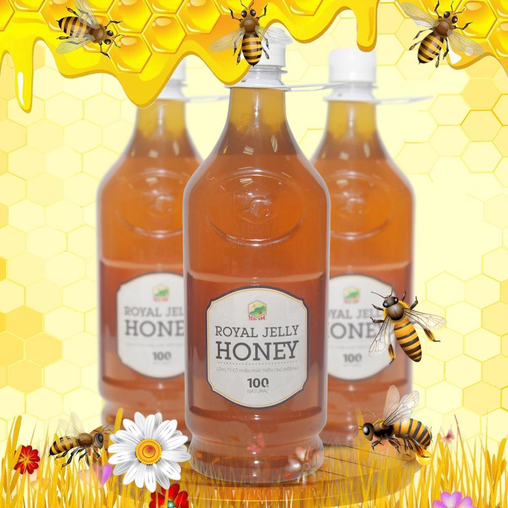 Mật ong hoa rừng sữa chúa đặc biệt xuất khẩu 1400g (Chai nhựa) MO009