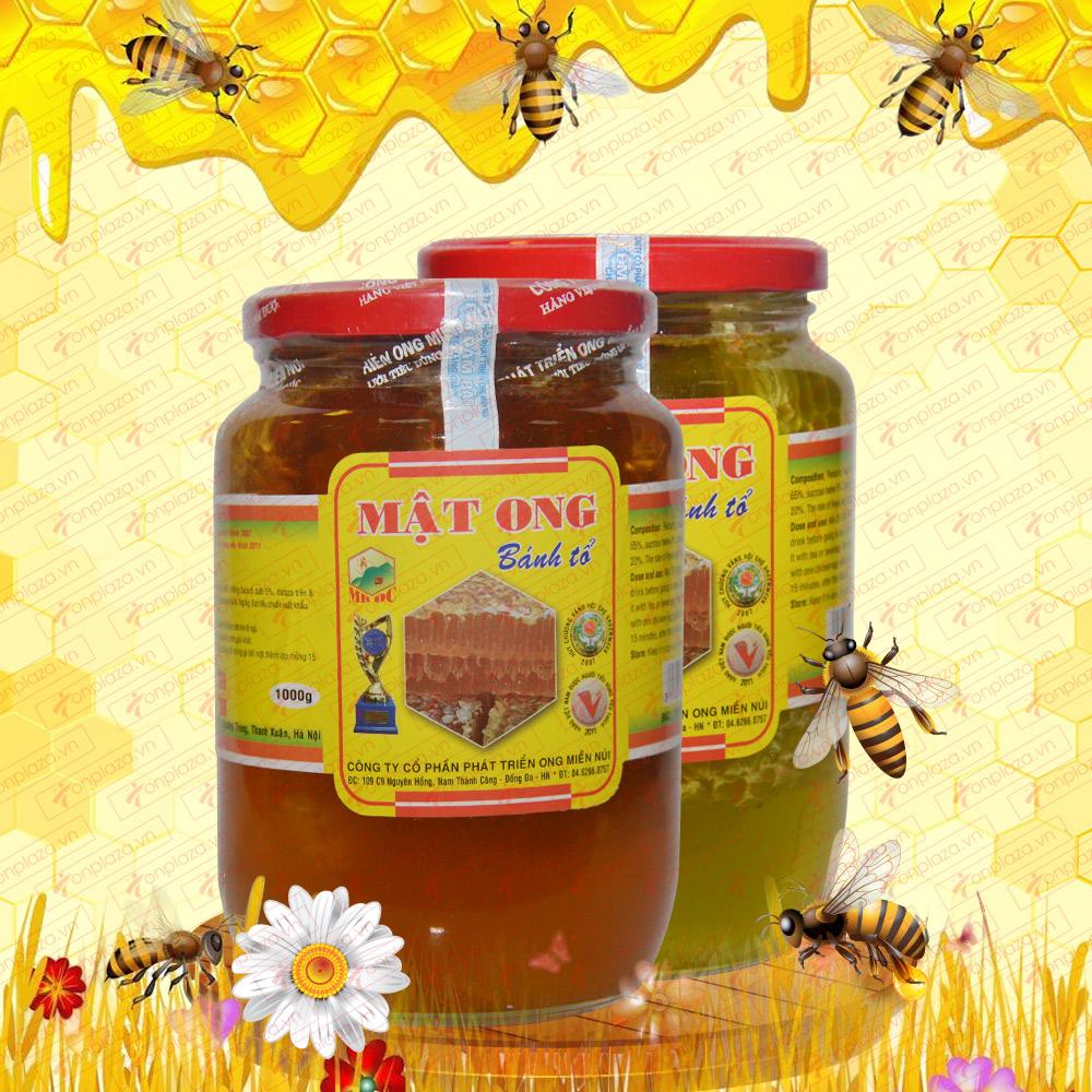 Mật ong nguyên tổ ( bánh tổ) 1000g MO010