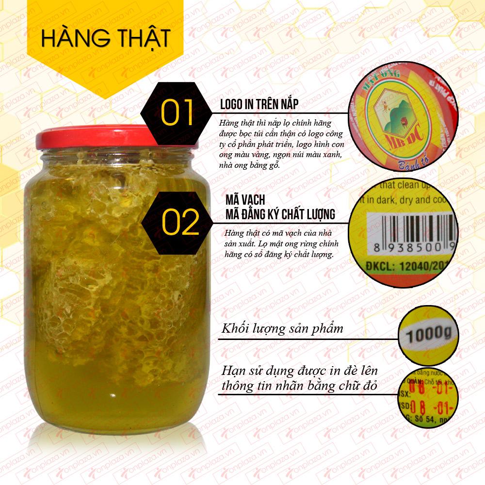 Mật ong nguyên tổ ( bánh tổ) 1000g MO010 9
