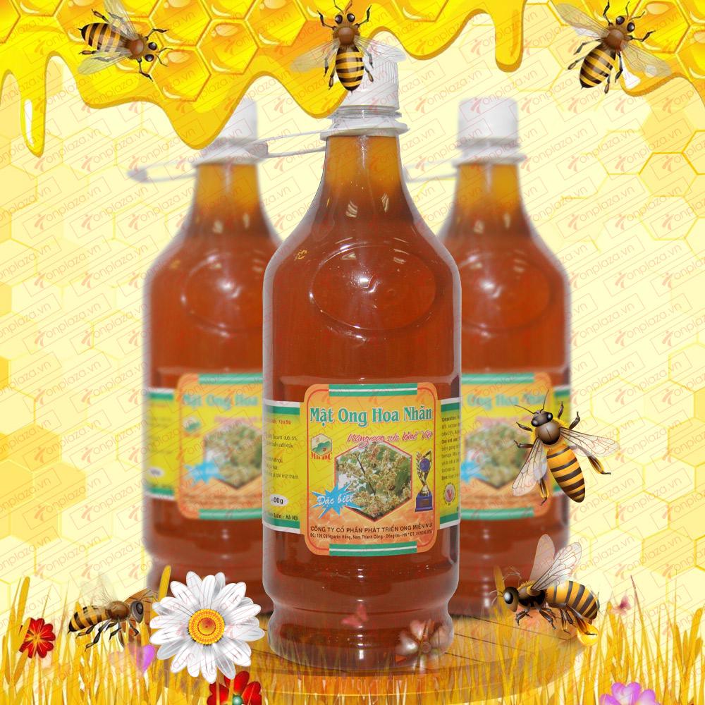 Mật ong rừng hoa nhãn 1400g (Chai nhựa) MO012