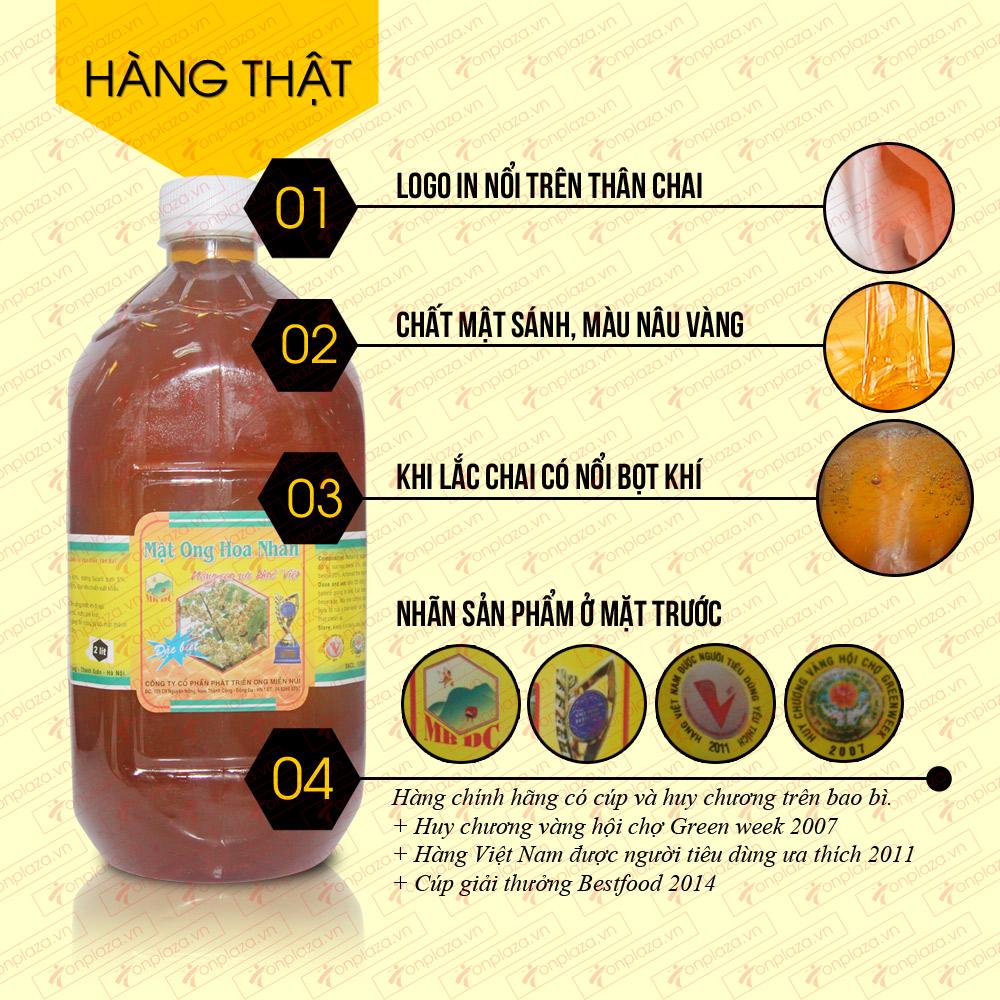 Mật ong rừng hoa nhãn 2 lit (Chai nhựa) M013 1