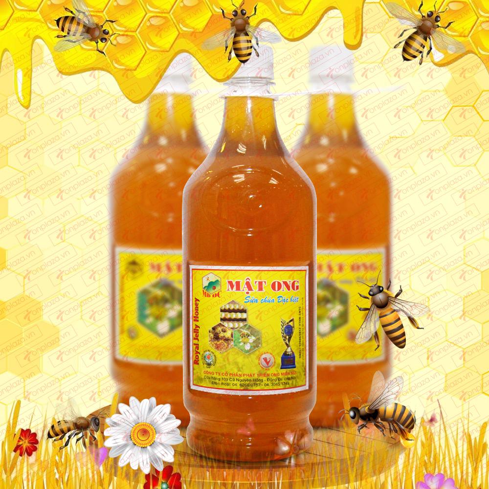 Mật ong rừng sữa chúa đặc biệt 1400 (Chai nhựa) MO007