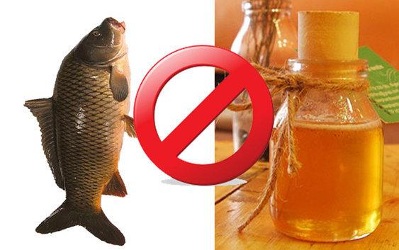 Không dùng mật ong với cá chép.